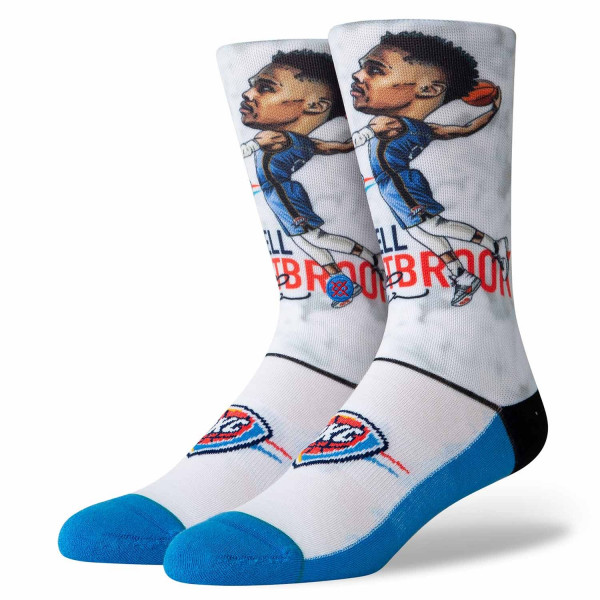 Oklahoma City Thunder Russell Westbrook Big Head NBA Socken