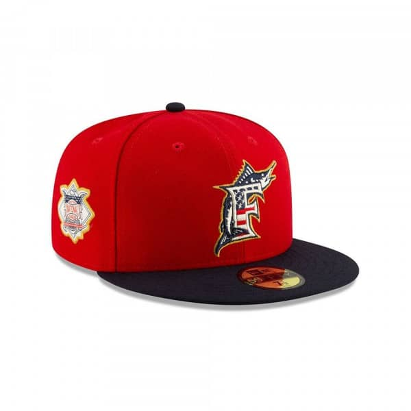 Miami Marlins 4th of July 2019 59FIFTY Fitted MLB Cap