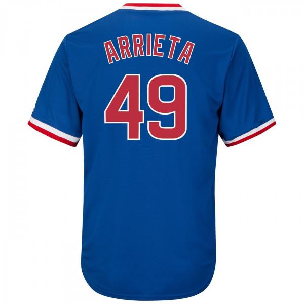 Jake Arrieta #49 Chicago Cubs Cool Base MLB Trikot Cooperstown
