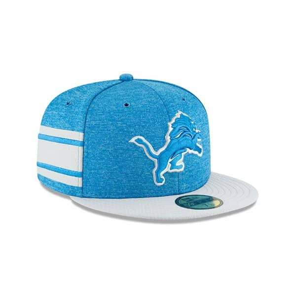 Detroit Lions 2018 NFL Sideline 59FIFTY Fitted Cap Home