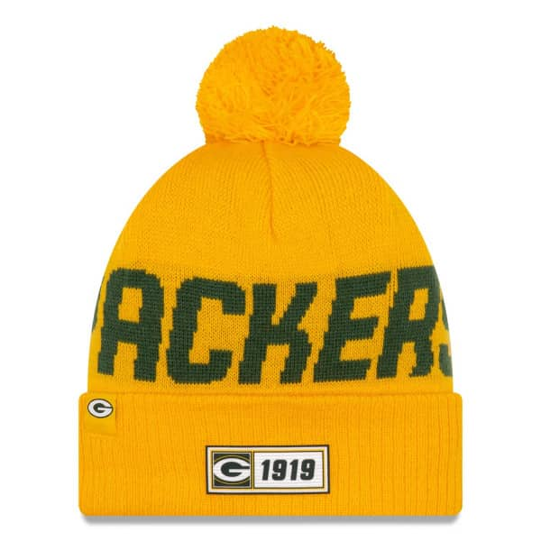 Green Bay Packers Reverse 2019 NFL Sideline Sport Knit Wintermütze Road