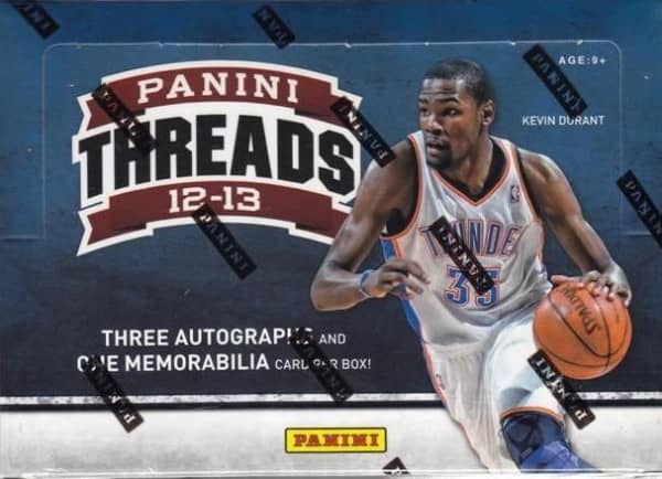 2012/13 Panini Threads Basketball Hobby Box NBA