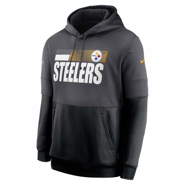 Pittsburgh Steelers 2020 NFL Sideline Lockup Nike Therma Hoodie