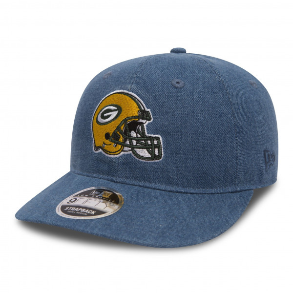 Green Bay Packers Helmet Low Profile 9FIFTY Strapback NFL Cap