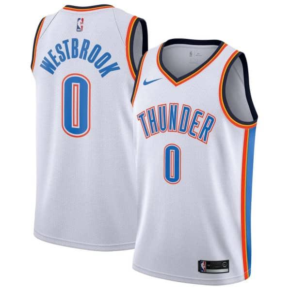 the best attitude d51a8 20609 Nike Russell Westbrook  0 Oklahoma City Thunder Association Swingman NBA  Jersey White   TAASS.com Fan Shop
