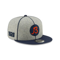 """Chicago Bears """"B"""" 2019 NFL On-Field Sideline 9FIFTY Snapback Cap Home"""