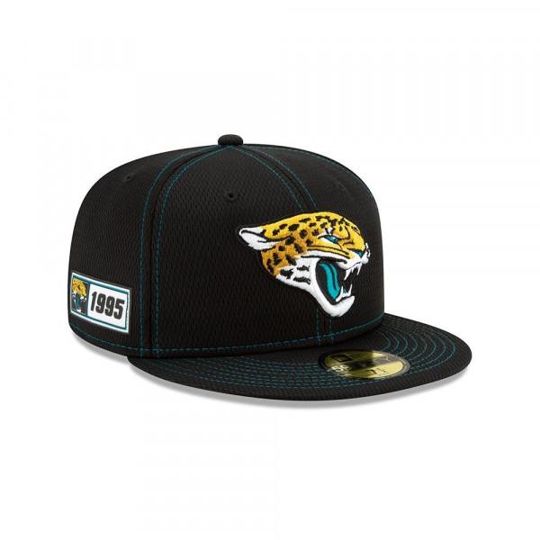 Jacksonville Jaguars 2019 NFL On-Field Sideline 59FIFTY Fitted Cap Road