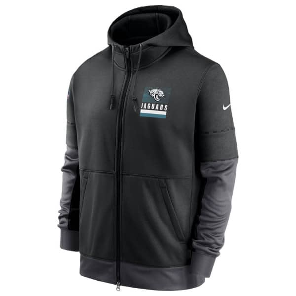 Jacksonville Jaguars 2020 NFL Sideline Lockup Nike Therma Full-Zip Hoodie