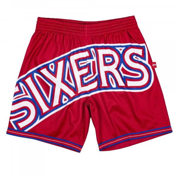 Philadelphia 76ers Big Face 2.0 Mitchell & Ness NBA Shorts Rot