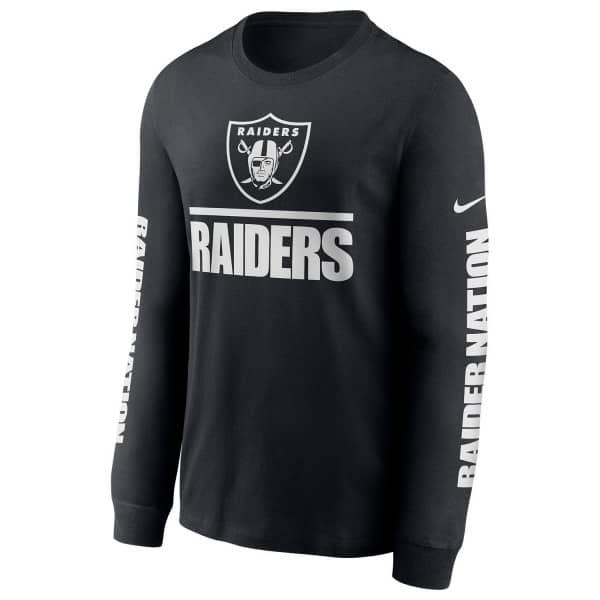 Las Vegas Raiders Split Local Nike Long Sleeve Shirt Schwarz