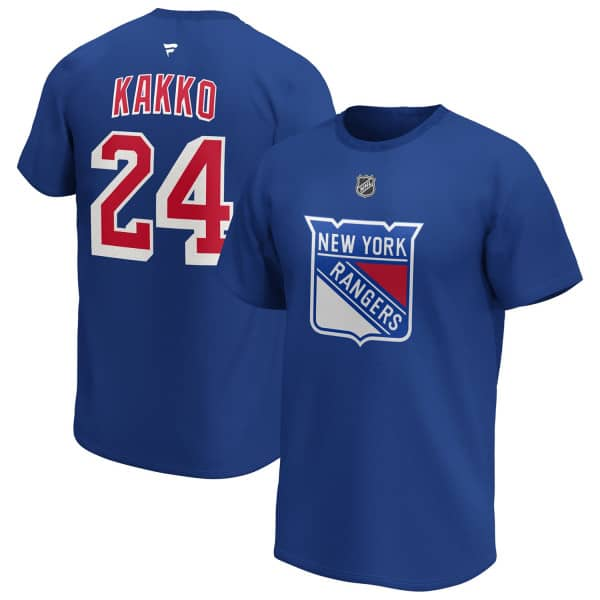 Kaapo Kakko #24 New York Rangers Fanatics Player NHL T-Shirt Blau