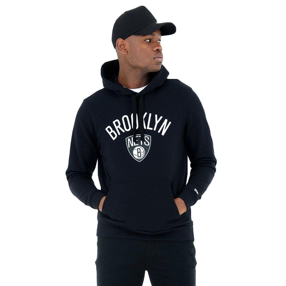 finest selection 74469 6d747 New Era Brooklyn Nets Team Logo Hoodie NBA Sweatshirt Black   TAASS.com Fan  Shop