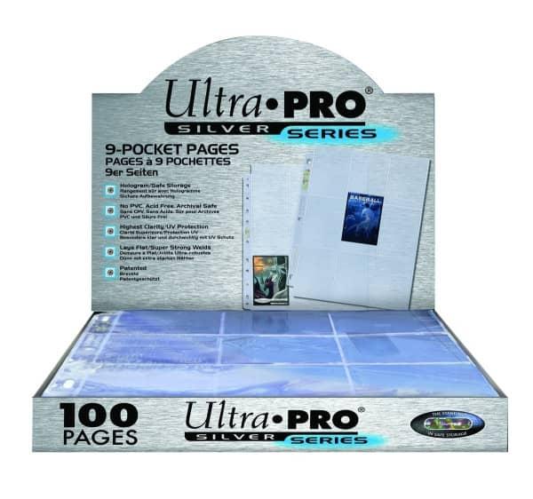Ultra Pro Silver Series Hüllen Case für 9 Karten (100 Seiten) 11 Loch Schützhüllen
