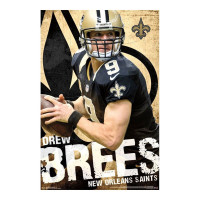 New Orleans Saints Drew Brees Superstar NFL Poster