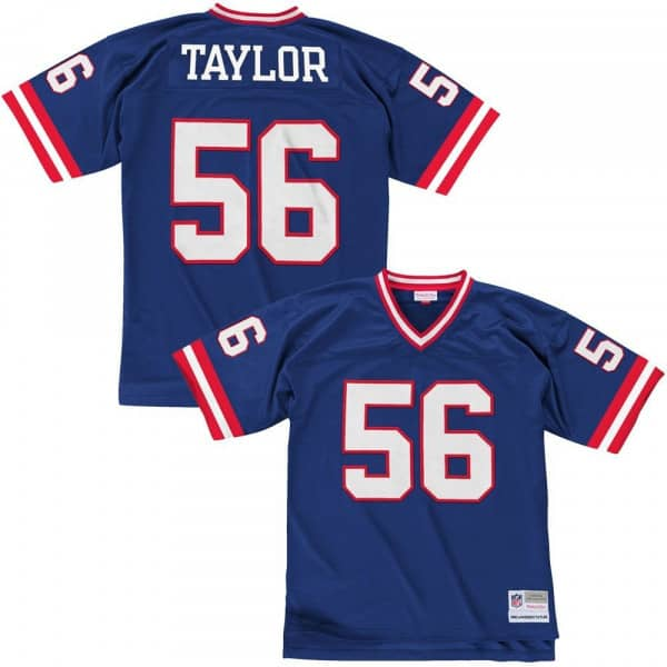 Lawrence Taylor #56 New York Giants Legacy Throwback NFL Trikot Blau