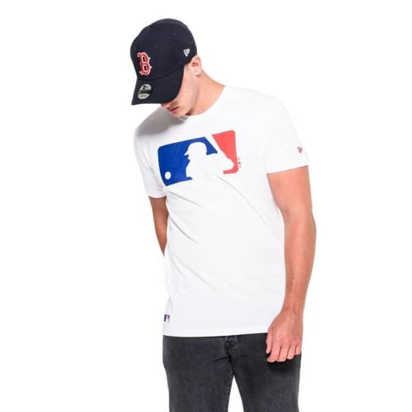 Major League Baseball Logo Baseball MLB T-Shirt Weiß