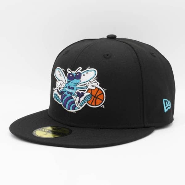 Charlotte Hornets Classic Logo New Era 59FIFTY Fitted NBA Cap Schwarz