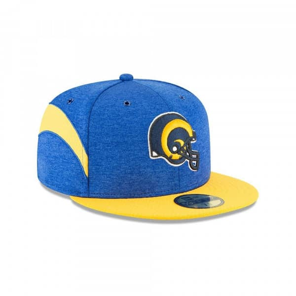 Los Angeles Rams Throwback Helmet 2018 NFL Sideline 59FIFTY Fitted Cap Home