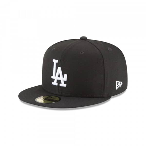 Los Angeles Dodgers Black & White 59FIFTY Fitted MLB Cap