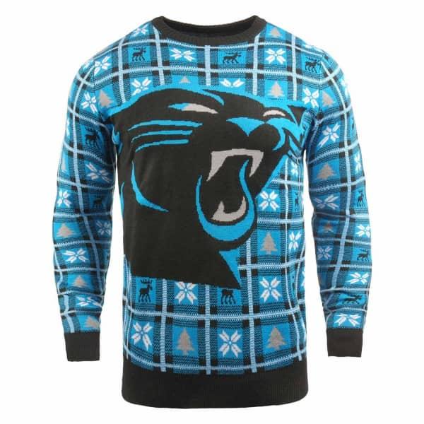Carolina Panthers Big Logo NFL Ugly Holiday Sweater