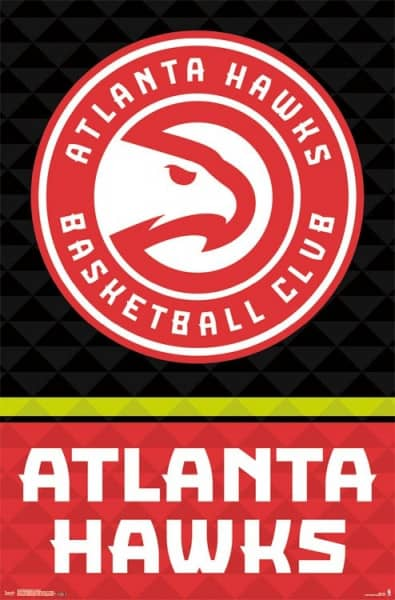 Atlanta Hawks Team Logo NBA Poster RP14336