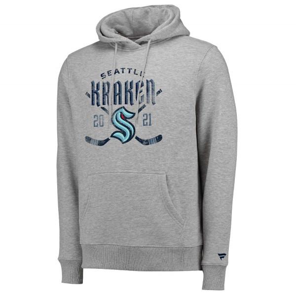 Seattle Kraken Line Shift Fanatics NHL Hoodie Grau