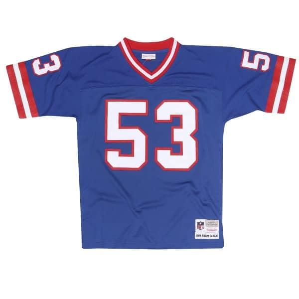 Harry Carson #53 New York Giants Legacy Throwback NFL Trikot Blau