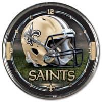New Orleans Saints Chrome NFL Wanduhr