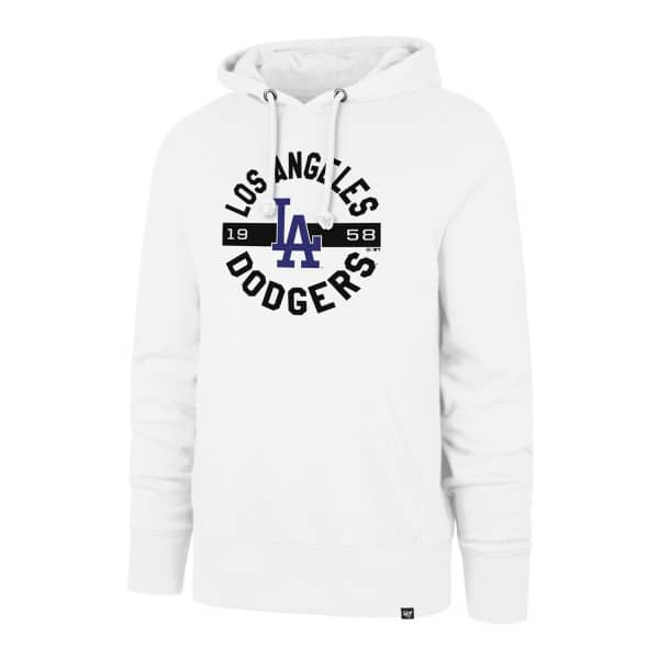 cheap for discount 95b2c b110e  47 Brand Los Angeles Dodgers Round About White Wash MLB Hoodie Sweatshirt    TAASS.com Fan Shop