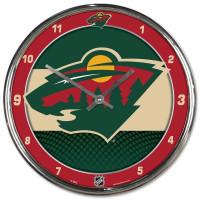 Minnesota Wild Chrome NHL Wanduhr