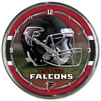 Atlanta Falcons Chrome NFL Wanduhr