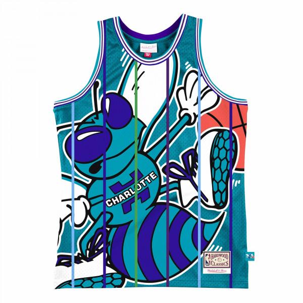 Charlotte Hornets Big Face 2.0 Mitchell & Ness NBA Jersey Türkis