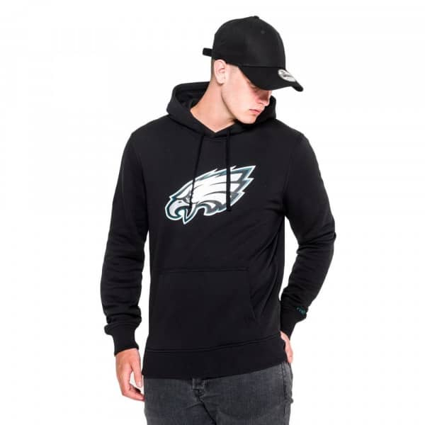 Philadelphia Eagles Logo Hoodie NFL Sweatshirt Schwarz