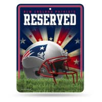 New England Patriots Reserved Parking NFL Metallschild