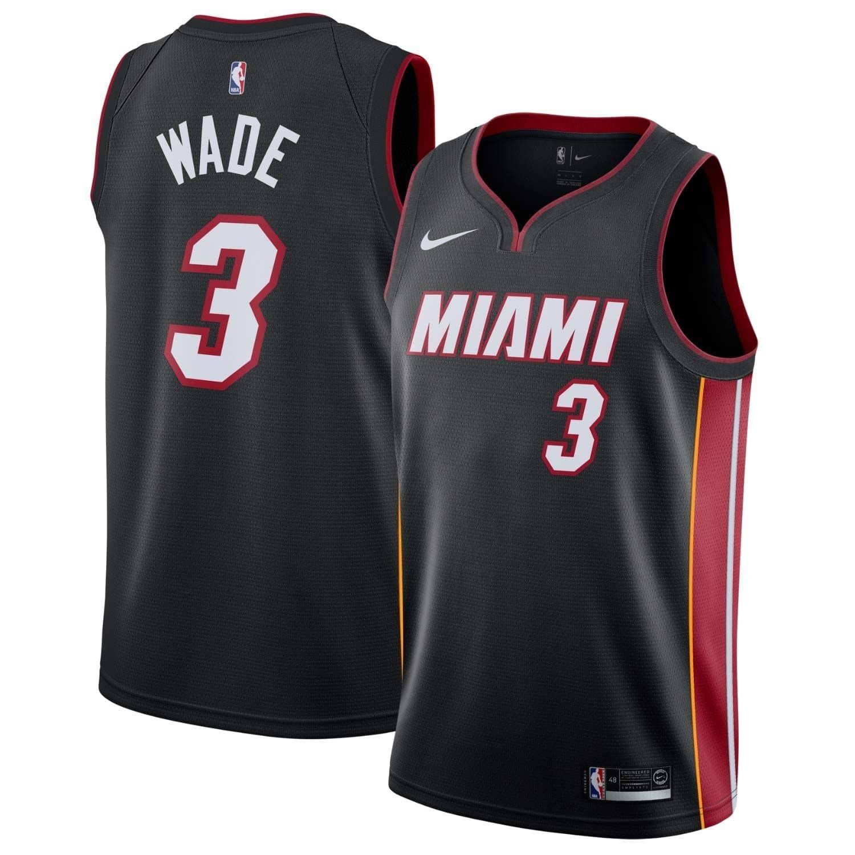 23c892e9820 Nike Dwyane Wade #3 Miami Heat Icon Swingman NBA Jersey Black | TAASS.com  Fan Shop