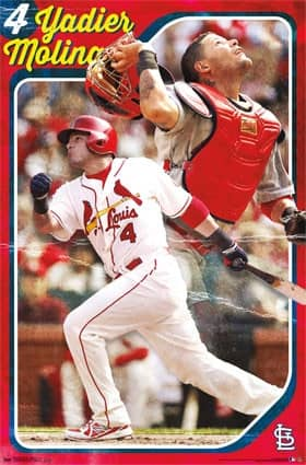 St. Louis Cardinals Yadier Molina Throwback MLB Poster RP6956
