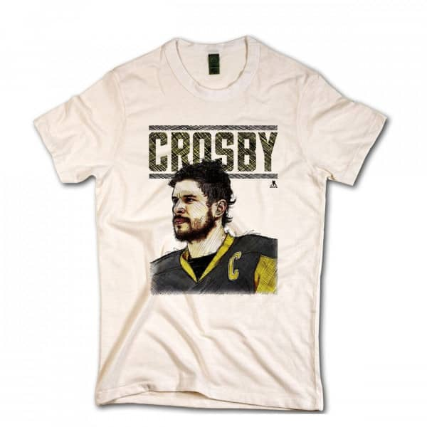 Pittsburgh Penguins Sidney Crosby Portrait NHL T-Shirt Beige