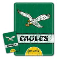 Philadelphia Eagles Throwback NFL Metallschild & Magnet Set