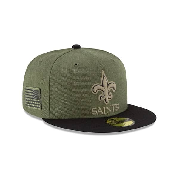 05c52cf34 New Era New Orleans Saints 2018 Salute to Service 59FIFTY NFL Cap ...
