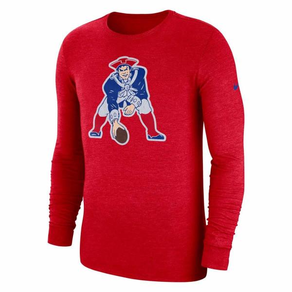 New England Patriots Historic Crackle NFL Long Sleeve Shirt