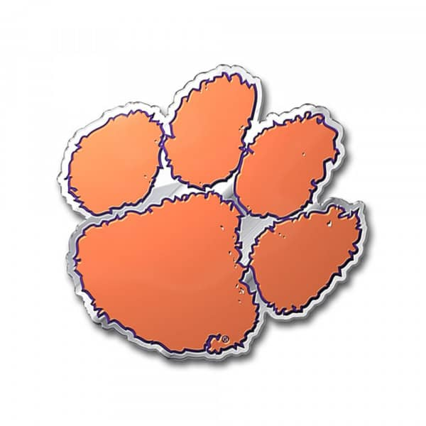 Clemson Tigers Aluminium Color NCAA Team Emblem