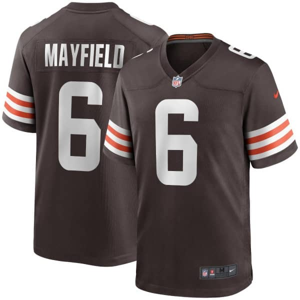 Baker Mayfield #6 Cleveland Browns Nike Game NFL Football Trikot Braun