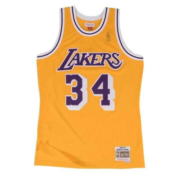 Shaq O'Neal #34 Los Angeles Lakers 1996-97 Swingman NBA Trikot Gelb