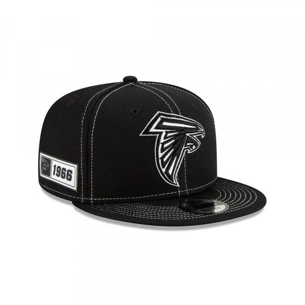 Atlanta Falcons 2019 NFL Sideline Black 9FIFTY Snapback Cap Road