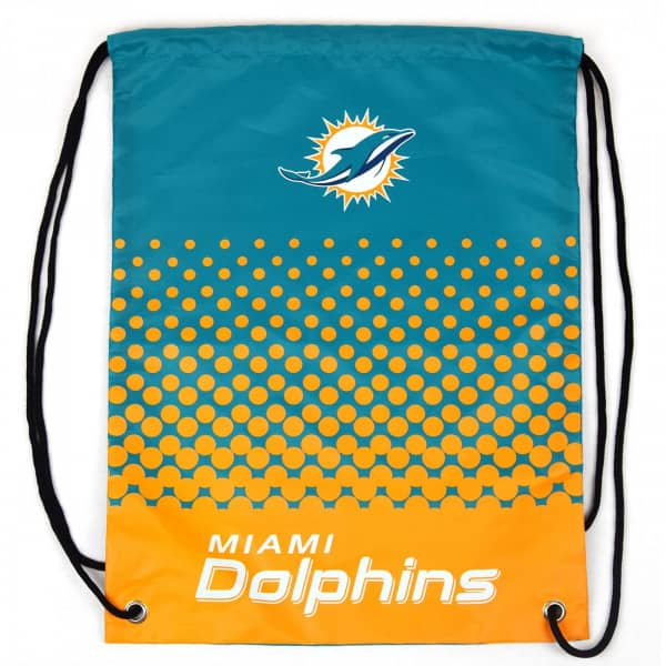 promo code 7c1bb 141c7 Forever Collectibles Miami Dolphins Fade NFL Drawstring Backpack   TAASS.com  Fan Shop