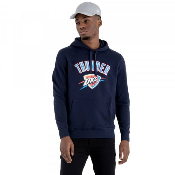 finest selection 5bd4c 9e723 New Era Oklahoma City Thunder Team Logo Hoodie NBA Sweatshirt Navy   TAASS.com  Fan Shop