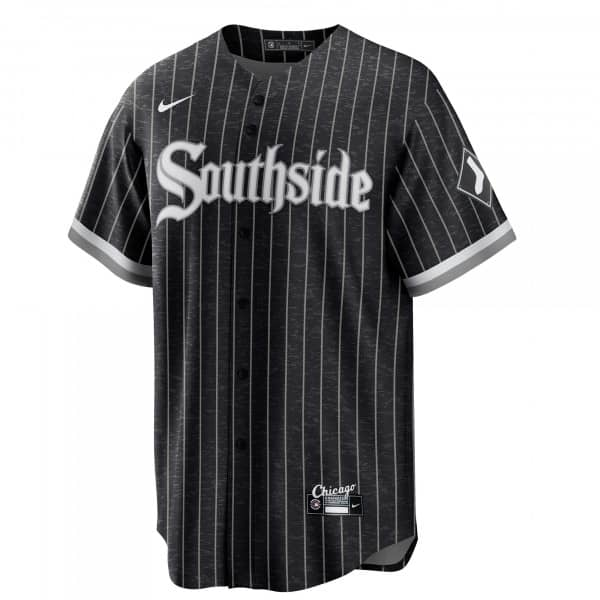 Chicago White Sox Official Replica Nike 2021 City Connect MLB Trikot Pinstripe