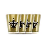 New Orleans Saints NFL Insulated Acryl Schnapsgläser Set (4 Stück)
