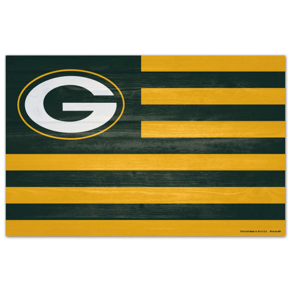 Green Bay Packers WinCraft NFL Americana Holzschild