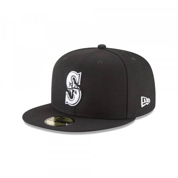 Seattle Mariners Black & White 59FIFTY Fitted MLB Cap